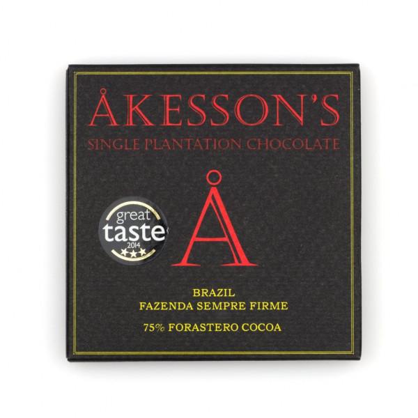 Åkesson's Forastero Cocoa Fazenda Sempre Firme Brazil 75% Vorderseite