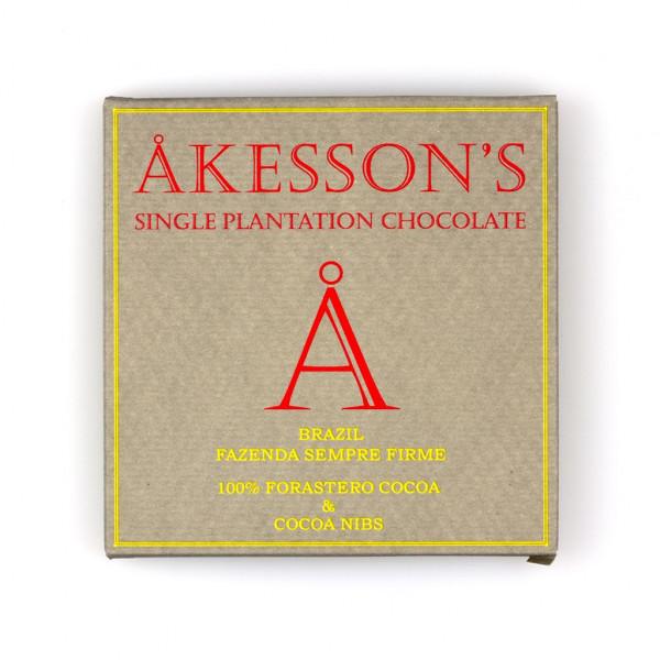 Åkesson's Forastero Cocoa Fazenda Sempre Firme Brazil 100% Vorderseite