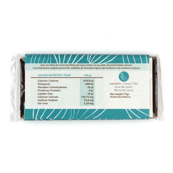 Ara Chocolat Chiapas 72% Rückseite