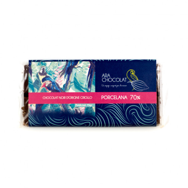 Ara Chocolat Porcelana 70% Vorderseite