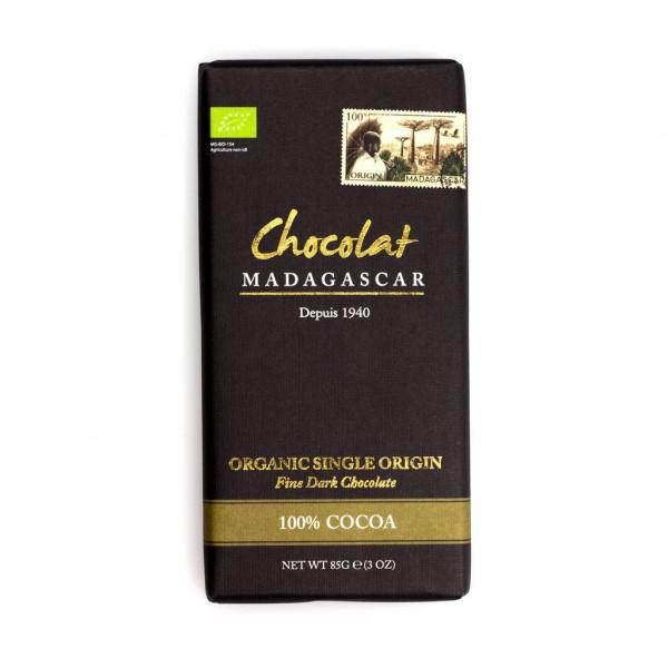 Robert Chocolat Madagascar Fine Dark Chocolate 100% Vorderseite