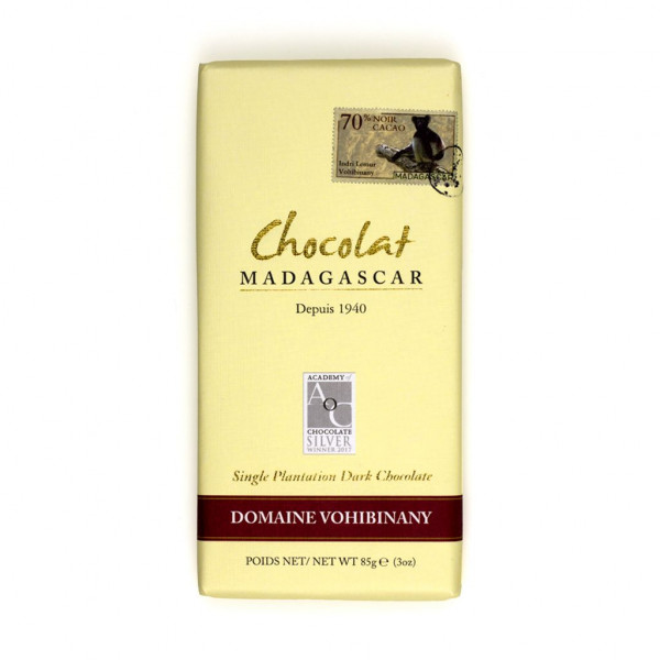 Robert Chocolat Madagascar Single Plantation Domaine Vohibinany (Brickaville) 70% Vorderseite