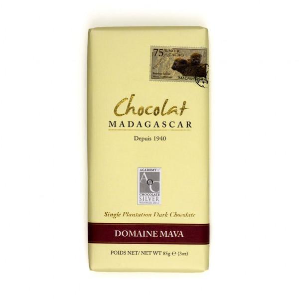 Robert Chocolat Madagascar Single Plantation Domaine Mava 75% Vorderseite