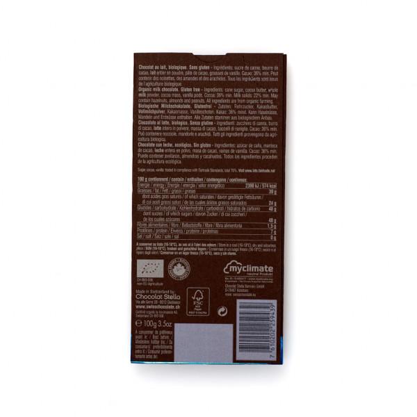 Chocolat Stella Milk 36% Rückseite