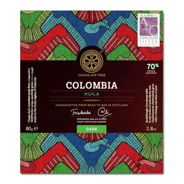 Chocolate Tree Columbia Huila 70% Vorderseite
