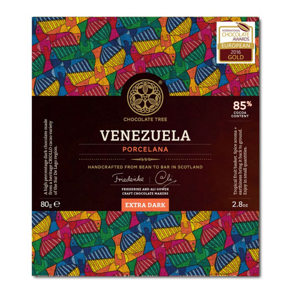 Chocolate Tree Venezuela Porcelana 85% Vorderseite