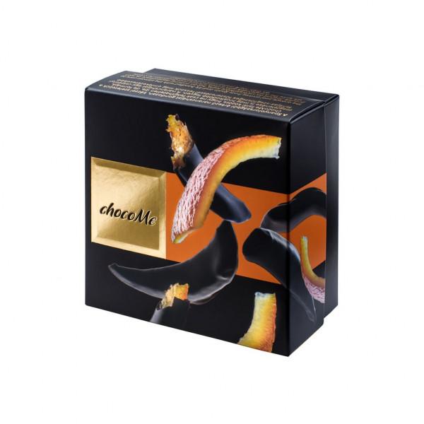 ChocoMe Voilé Orangenschale mit Zimt und Gewürznelke in dunkle Schokolade Vorderseite