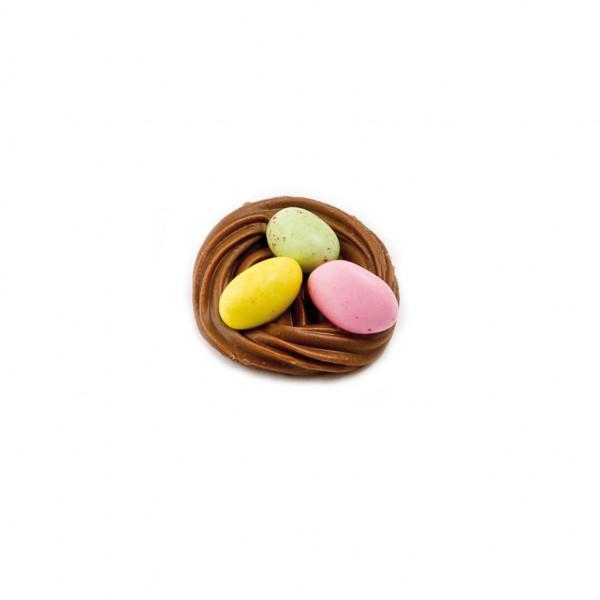 Michel Cluizel Gianduia Osternest mit Fruchtgelee Eiern
