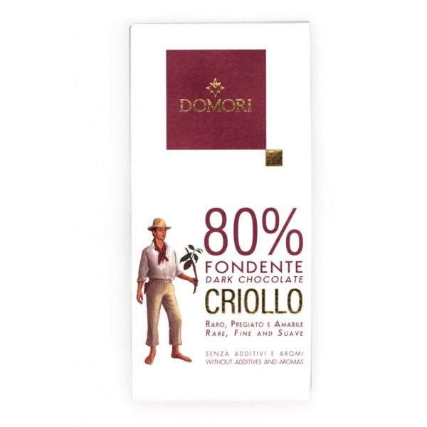 Domori Cacao Criollo 80% 50g Vorderseite