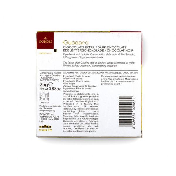 Domori Guasare Cacao Criollo 70% Rückseite