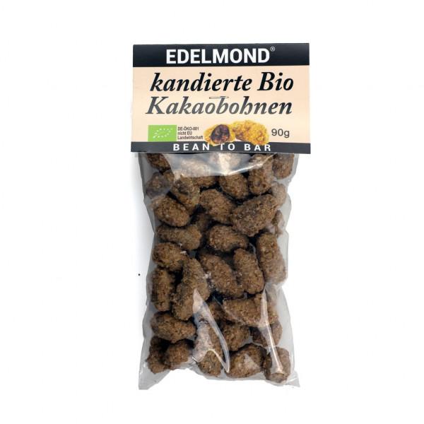 Edelmond kandierte Bio Kakaobohnen Vorderseite