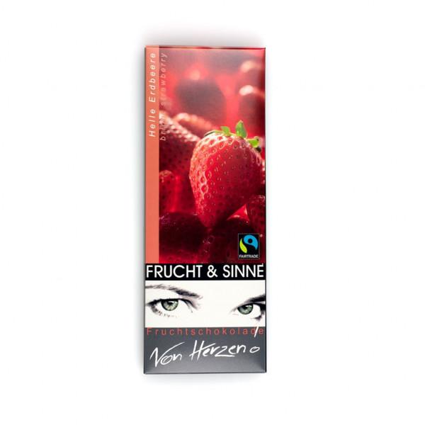 """Frucht & Sinne Helle Erdbeere """"Von Herzen!"""" Vorderseite"""