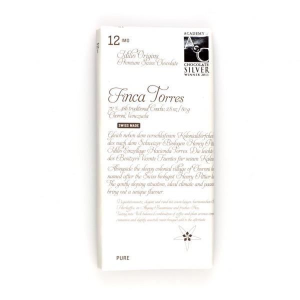 Idilio Origins 12imo Finca Torres 72% Vorderseite