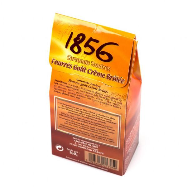 Klaus 1856 Caramels Tendres Crème Brûlée Rückseite