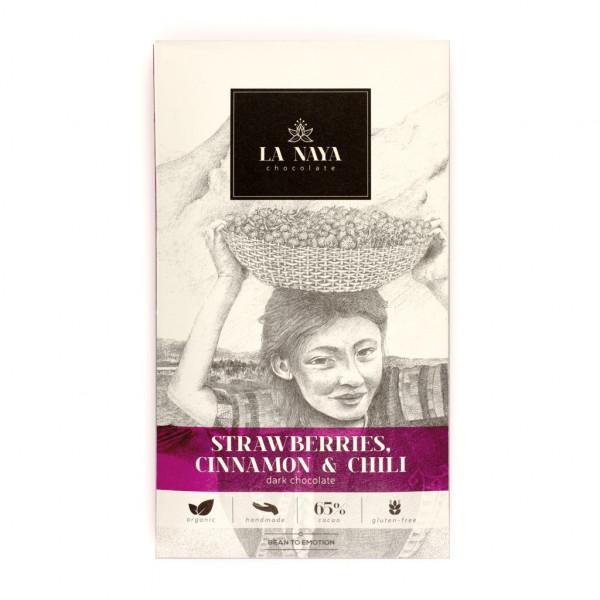 La Naya Strawberries, Cinnamon & Chili 65% Vorderseite