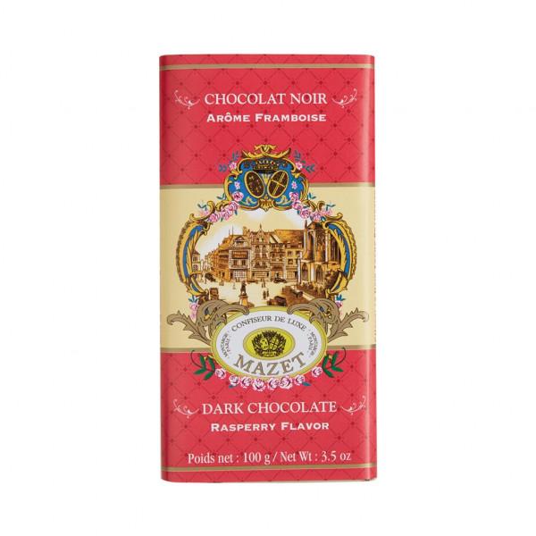 Mazet Confiseur Chocolat Noir Arome Framboise 64% Vorderseite