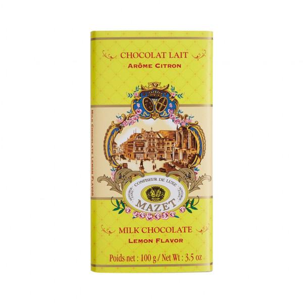 Mazet Confiseur Chocolat Lait Arome Citron 38% Vorderseite