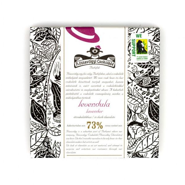 Rózsavölgyi Csokoládé Lavender 77% Vorderseite