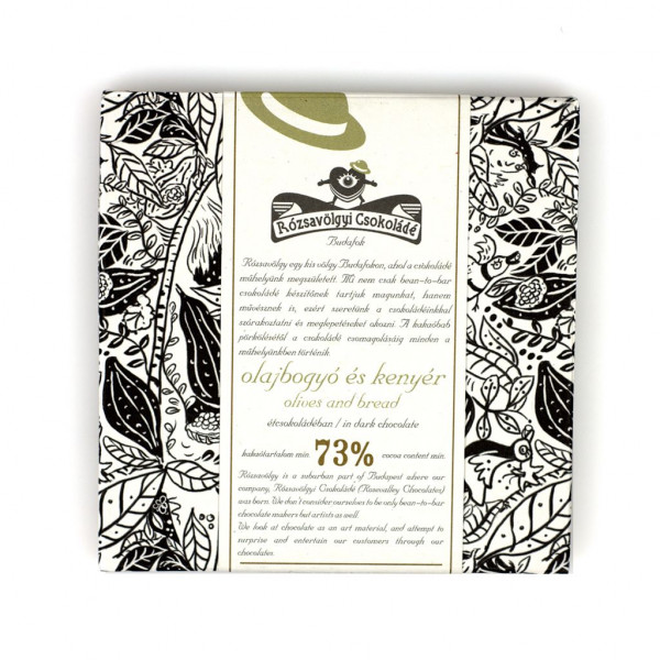 Rózsavölgyi Csokoládé Olives and Bread Vorderseite