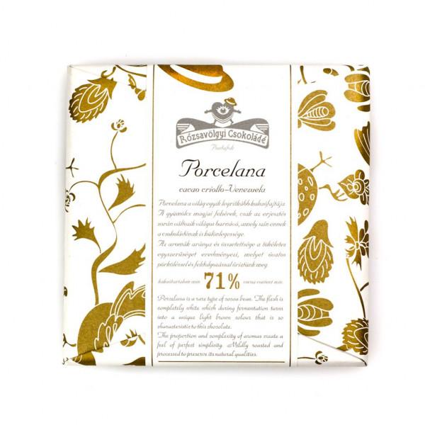 Rózsavölgyi Csokoládé Porcelana 71% Vorderseite