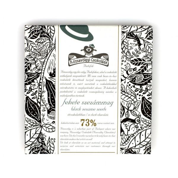 Rózsavölgyi Csokoládé Black Sesame Seeds 73% Vorderseite