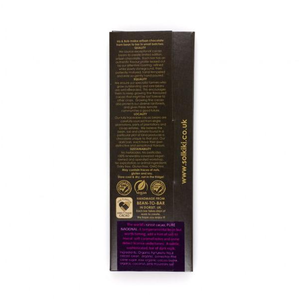 Solkiki Micro-Batch Peru Marañón 60% Rückseite