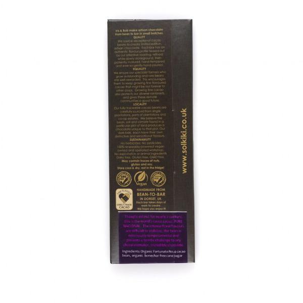 Solkiki Micro-Batch Peru Marañón 68% Rückseite