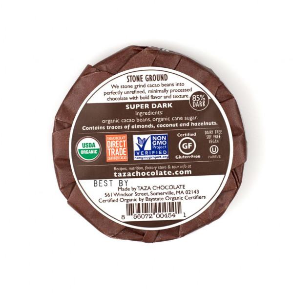 Taza Chocolate Mexicano Super Dark 85% Rückseite