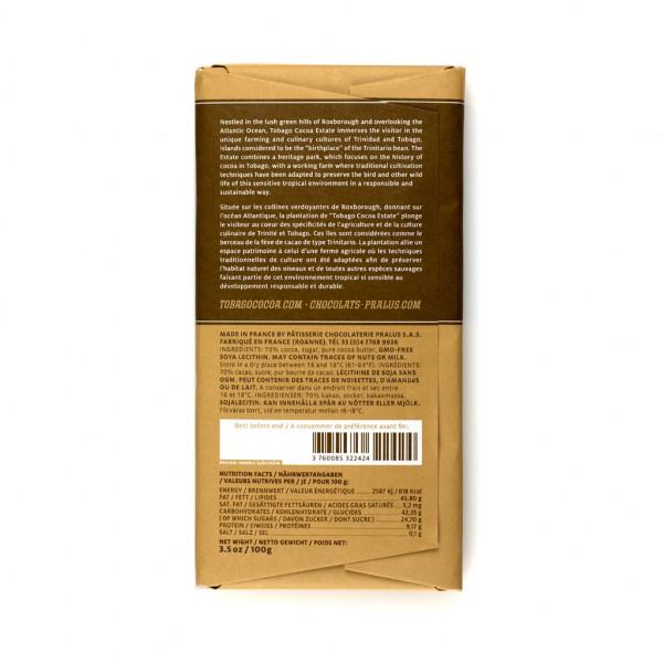 Tobago Estate Chocolate 70% 100g Rückseite