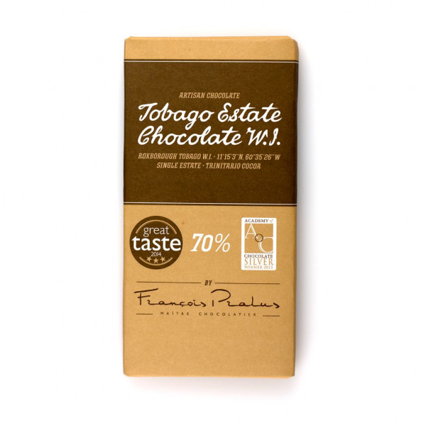 Tobago Estate Chocolate 70% 100g Vorderseite