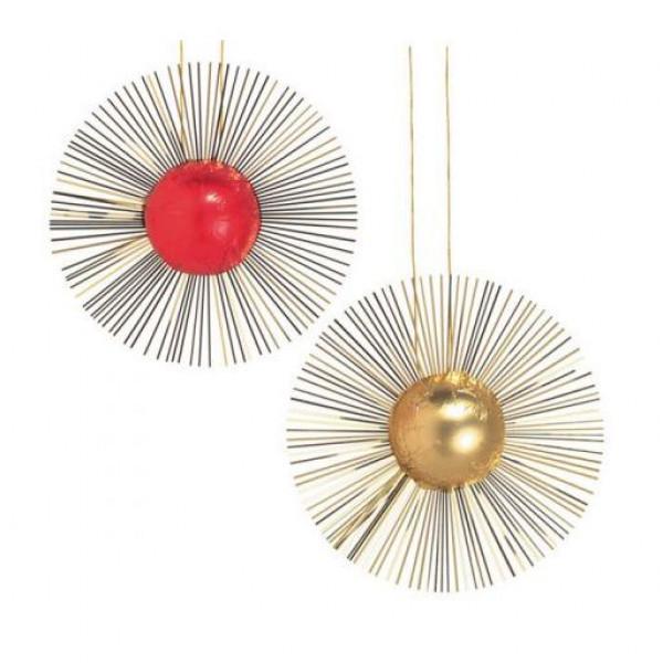 Weihnachtskugeln in Rot oder Gold