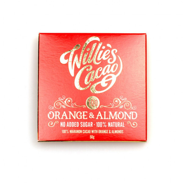 Willie's Cacao Orange & Almond 100% Vorderseite