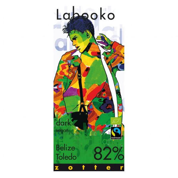 Zotter Labooko Belize Toledo 82% Vorderseite