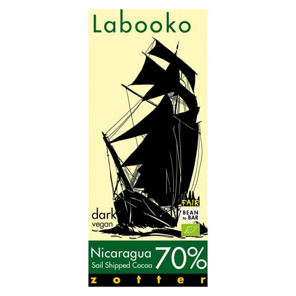Zotter Labooko Nicaragua Sail shipped cocoa 70% Vorderseite