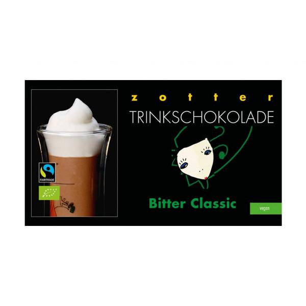 Zotter Trinkschokolade Bitter Classic Vorseite